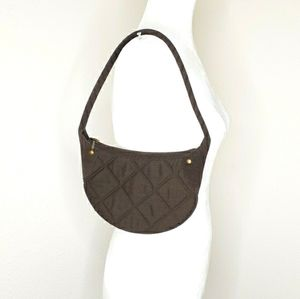 J. Crew Brown Quilted Handbag Purse Small Bag